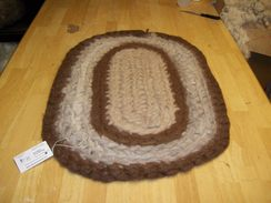 Photo of Crochet and Felted Alpaca Rug #1