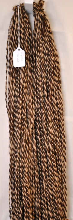 Photo of Yarn-Handspun Dark Fawn/Med.Fawn Alpaca
