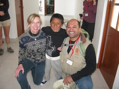 Rhonda, Gregorio and Mario at Casa Chapi