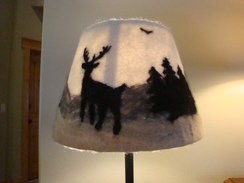 Photo of Alpaca Fiber Art - Lampshade