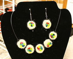 Photo of Felted Necklace & Earrings