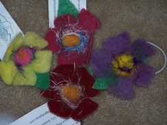 Photo of Alpaca Flower Hair Bows
