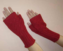 Photo of Cabled Wristwarmers