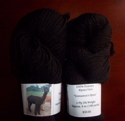 Photo of 100% Huacaya Alpaca Yarn - Black 4 oz.