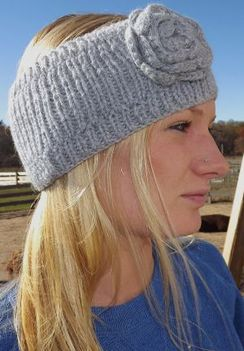 Photo of Alpaca Head Band with Flower