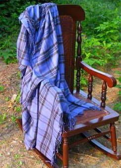 Photo of Alpaca Throw - Periwinkle Plaid
