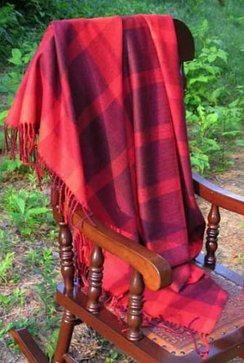Photo of Alpaca Throw - Red Plaid
