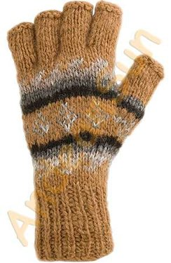 Photo of 100% Alpaca Hand-Knit Fingerless Gloves