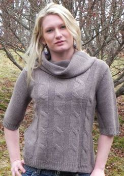 Photo of Cable Cowl-Neck Sweater