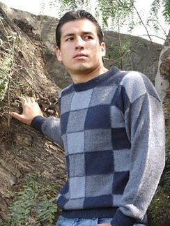 Photo of Checkered Crew, Baby Alpaca Sweater