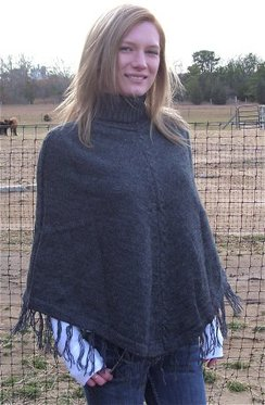 Photo of Alpaca Turtleneck Poncho 