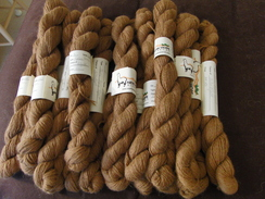 Photo of Dark Fawn Suri Alpaca Yarn