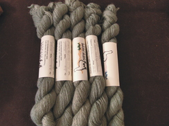 Photo of Natural Green Dyed Suri Alpaca Yarn