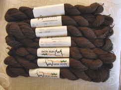 Photo of Dark Brown Suri Alpaca Yarn