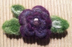 Photo of Needle Felted Floral Pins