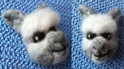 Photo of Needle Felted Alpaca Pin