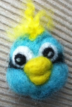 Photo of Baby Jay Needle Felted Pin