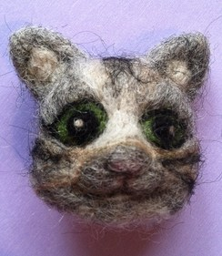 Photo of Needle Felted Kitten Pin