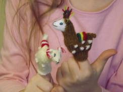 Photo of Alpaca Finger Puppet