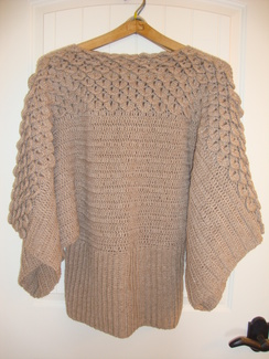 Photo of Crocheted Batwing Sweater