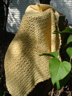 Photo of Baby Blanket in Sunny Yellow Alpaca