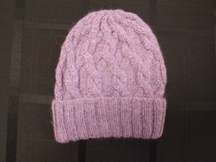 Photo of Snake Cable Alpaca Hat