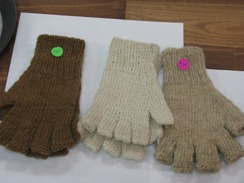Photo of Plain 100% Alpaca Fingerless Gloves