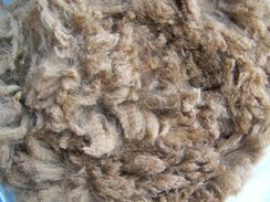 Photo of Raw blanket fleece-dark fawn