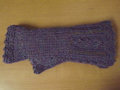 Photo of Alpaca Cable Fantasy Fingerless Gloves