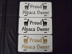 Photo of Proud Alpaca Owner License Plate