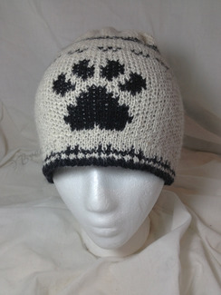 Photo of Paw Print, Knit Alpaca Hat