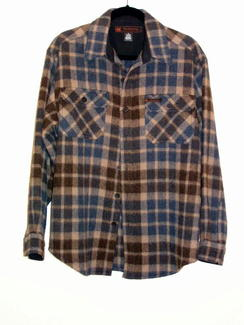 Photo of  Plaid Shirt Jacket - Indigo/Brown