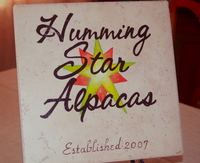 Humming Star Alpacas - Logo