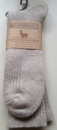 Photo of RedMaple Oat Copper Crew Socks Large