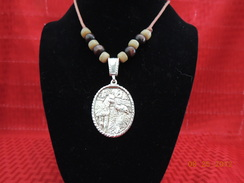 Photo of Sterling Paca and Pyr Necklace 3