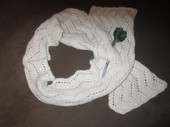 Photo of Handknitted Scarf - White