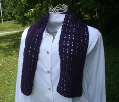 Photo of Purple Hand Knit Scarf