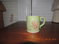 Photo of Stoneware alpaca Mug grass and Fawn