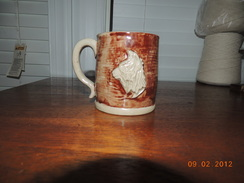 Photo of Stoneware alpaca Mug Brown and Natural