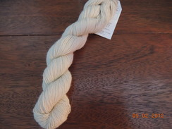 "Photo of ""Vanilla"" Suri Fingering yarn"