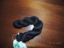 "Photo of ""Pitch Black"" yarn"