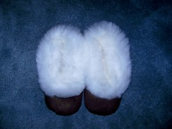 Photo of Leather Slippers with Alpaca