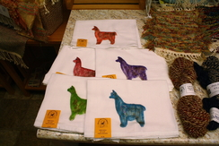 Photo of Alpaca Stamped Cotton Dish Towel