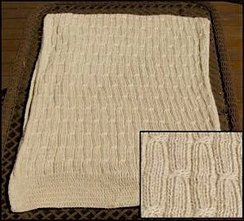 Photo of Alpaca Afghan-Cabled Throw