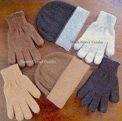 Photo of Reversible Alpaca Hat & Glove Set