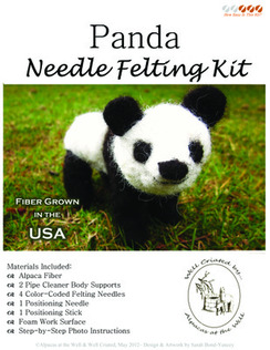 Photo of Panda Bear Needle Felting Kit