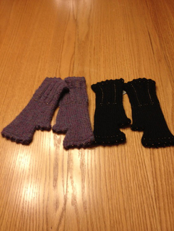 Photo of Alpaca Cable Fingerless Gloves
