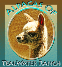 Alpacas of Tealwater Ranch, LLC  est. 2005 - Logo