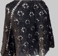 Photo of Black Lacy Shawl - Sold