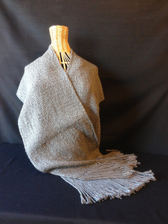 Photo of Hand Woven Silver Gray Stole